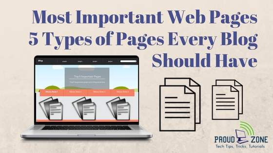 Most important web pages every blog Should Have
