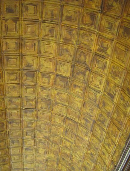 Lynda Bergman Decorative Artisan Painting Amp Aging A Ceiling To Look Like Very Old Ceiliing Tiles