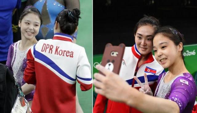 Selfie 2 Atlet Korea Jadi Momen Indah Olimpiade Rio 2016