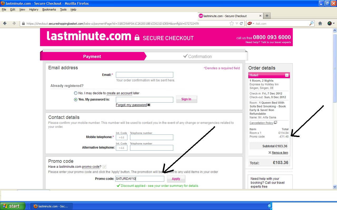 10% hotel discount code from lastminute com for hotel
