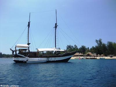 Gili Air, sailing ship