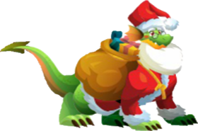 Dragón Papá Noel