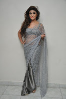 Actress Sony Charistha Latest Pos in Silver Saree at Black Money Movie Audio Launch  0013.jpg