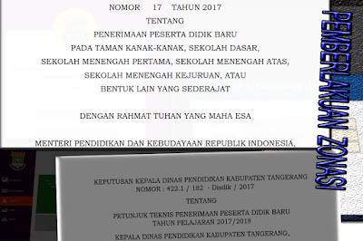 permen no 17 2017 ppdb dan sk kepala dinas kabupaten tangerang