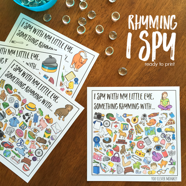 Word Family I Spy Mats | you clever monkey