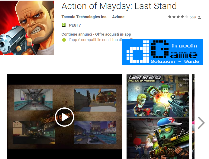 Trucchi Action of Mayday: Last Stand Mod Apk Android v1.0.3
