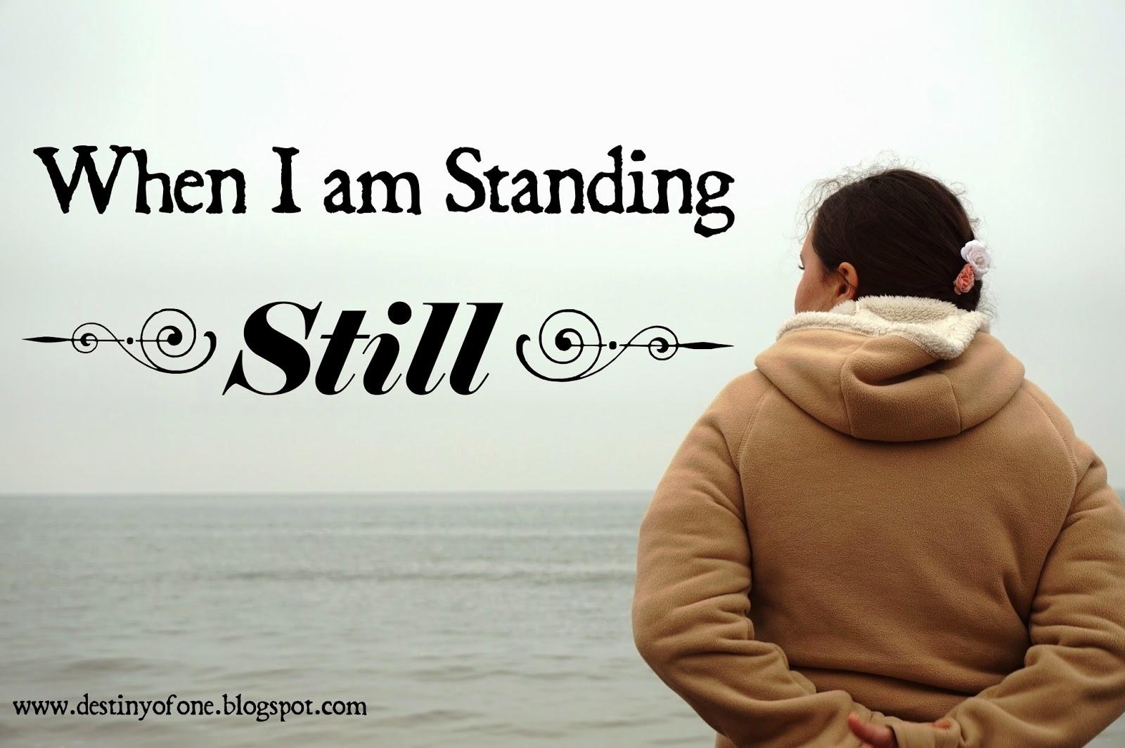 standing still text