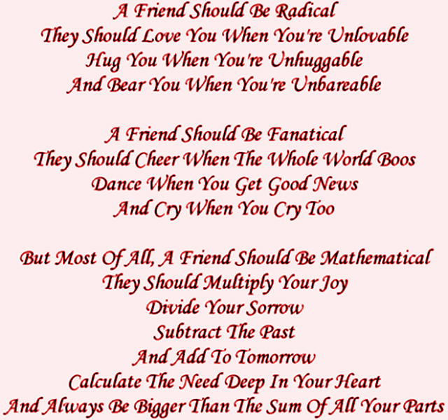 your my best friend forever poems - photo #26