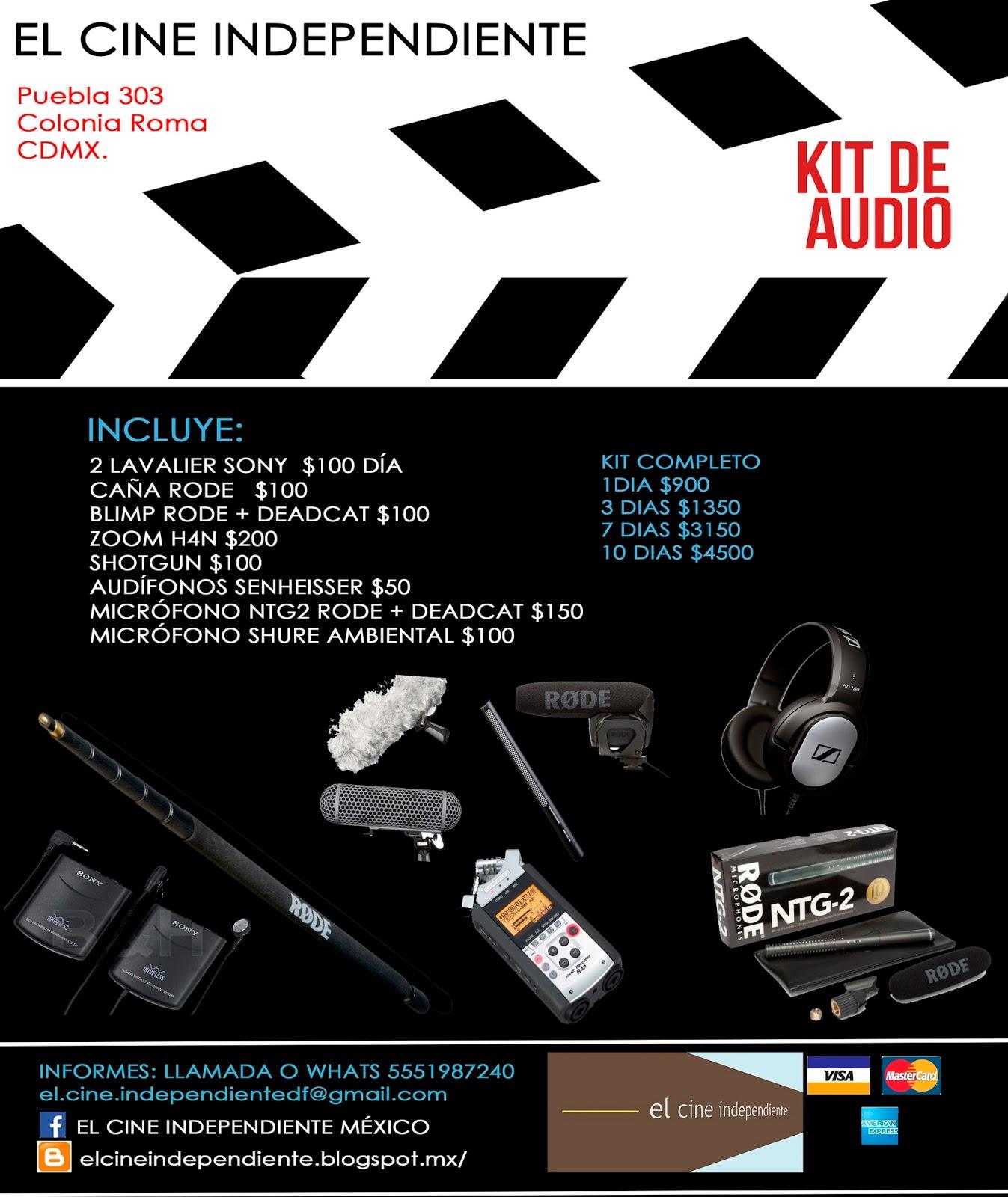 EQUIPO EN RENTA PARA PRODUCCIONES INDEPENDIENTES. el.cine ...