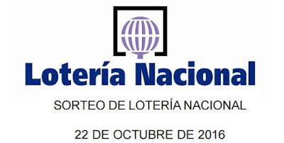 Sorteo de loteria nacional del sabado 22 de octubre de 2016