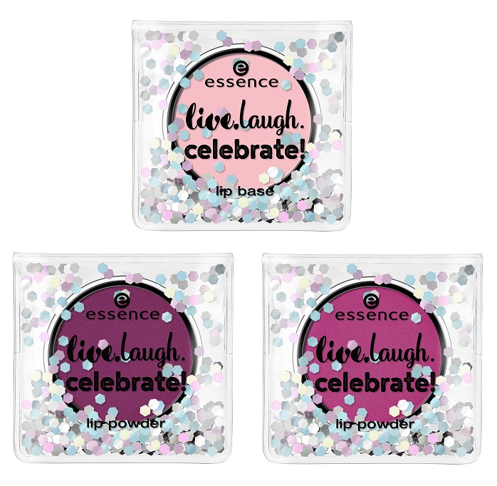 essence live laugh celebrate lip powder