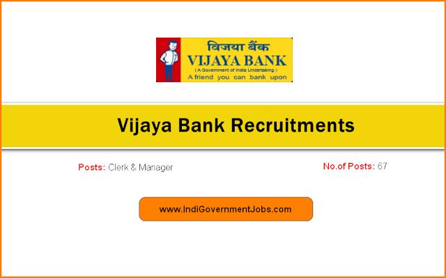 Vijaya Bank Recruitment 2018