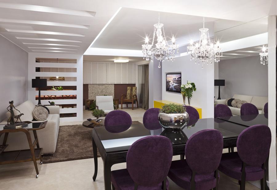 Decoracao De Sala Lilas ~ Decoração de sala de jantar  20 salas de jantar modernas e atuais