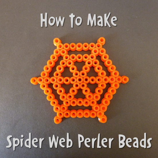 How to Make a Perler Bead Spider Web Pattern: Ideal Halloween Craft Kids Crafting Hama Fused Bead Patterns Design Instructions Spiders Cobweb Spiderweb
