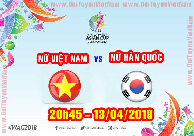 [Live] AFC Women's Asian Cup 2018 : Korea Republic VS Vietnam