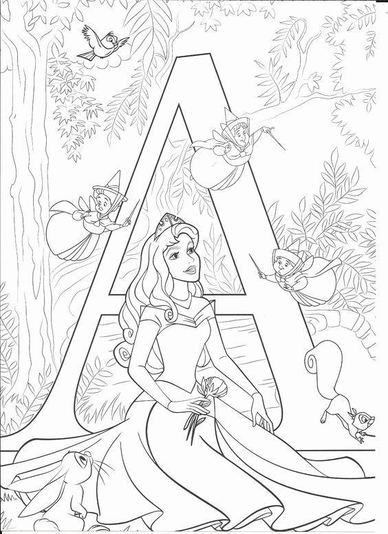 Tranh tô màu nàng công chúa ngủ trong rừng 08