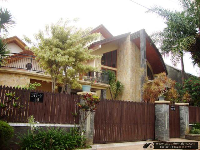 Villa Kolam Renang di Batu Malang