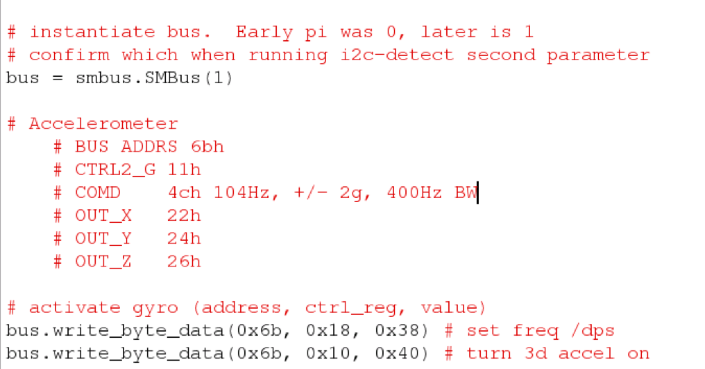 Raspberry Pi Data Capture: Programming the i2c Bus in Python