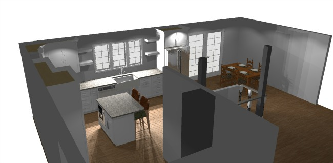 3d kitchen layout for rancher