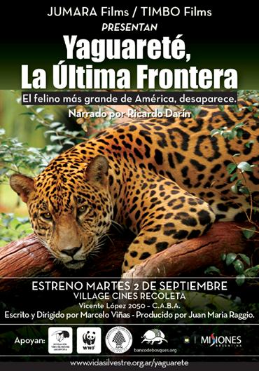 Documental Yaguareté, la última frontera Online