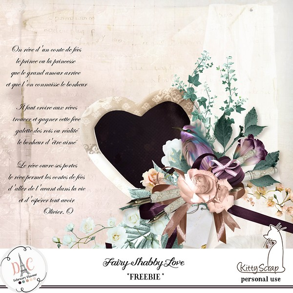 FREEBIE - Fairy Shabby Love