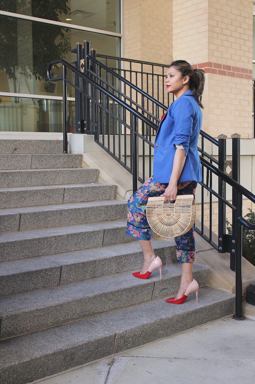 STYLE SWAP TUESDAYS- MODERN AMERICANA , dc blogger, culottes, brocade, spring style, aldo heels