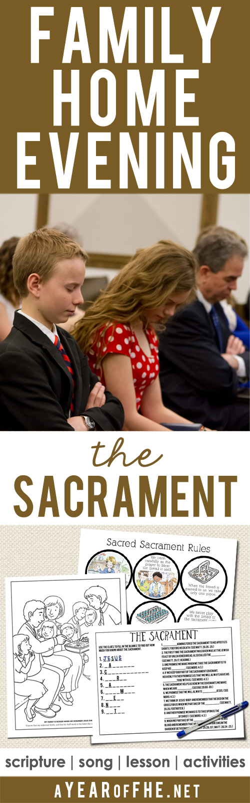 A Year Of FHE Year 02 Lesson 40 The Sacrament