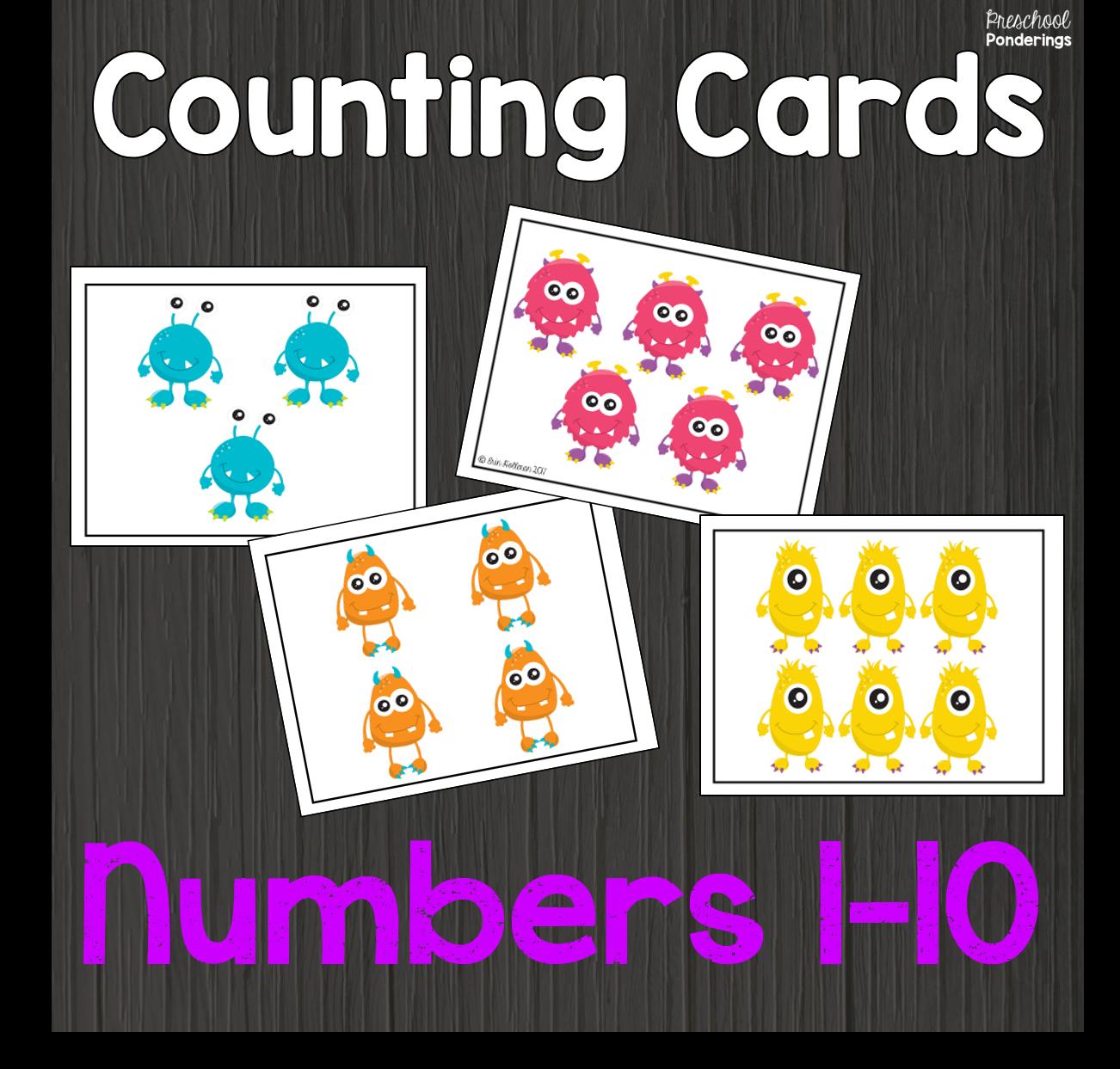 Image Card Count Cronek Png: Preschool Ponderings: Monster Math