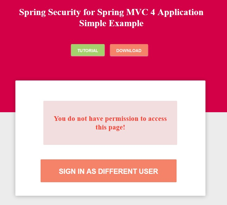 Spring Security 4: JDBC Authentication and Authorization in MySQL