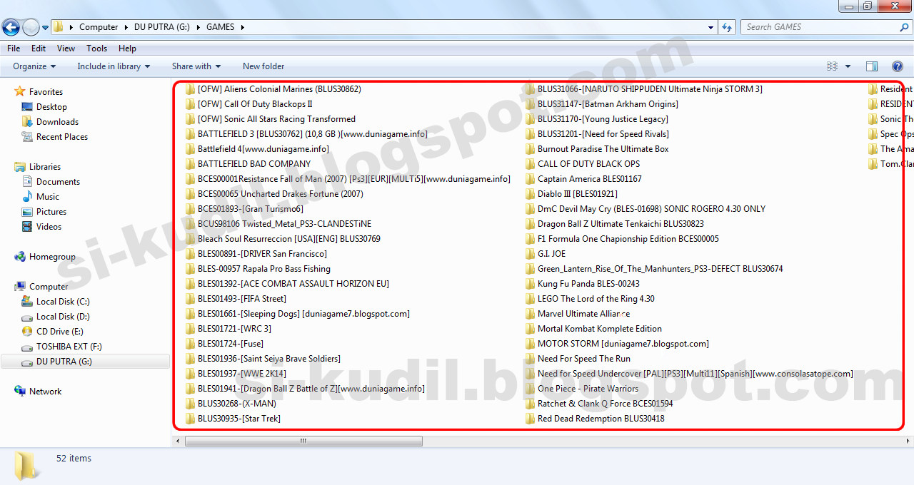 Cara Instal Game PS3 KE HDD External