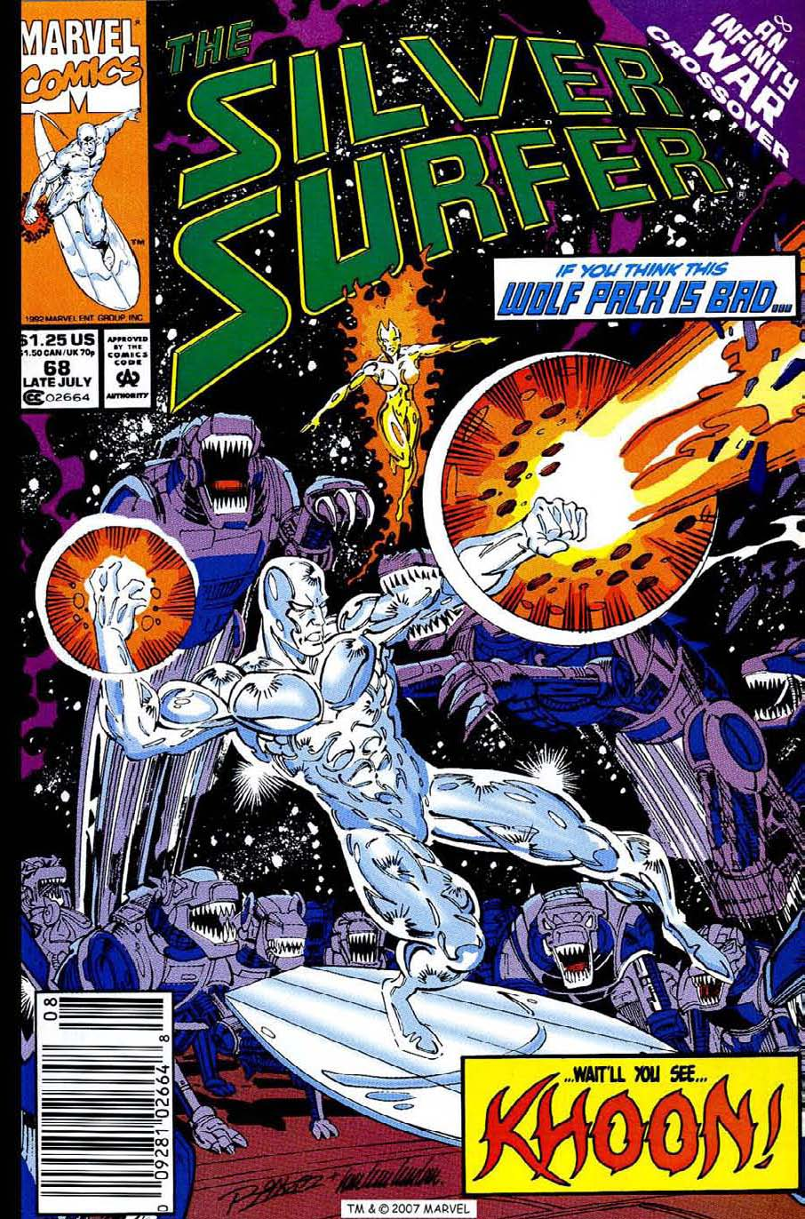 Read online Silver Surfer (1987) comic -  Issue #68 - 1