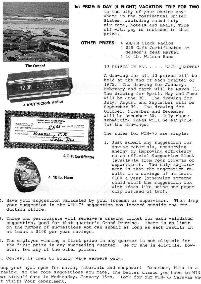 Nissen News: 1975 (January) Nissen Employee Christmas Open