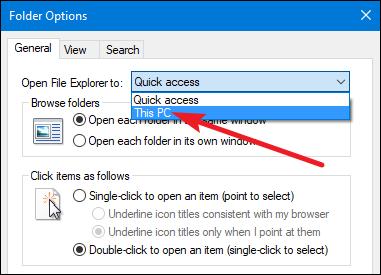 Menonaktifkan Fitur Quick Access View