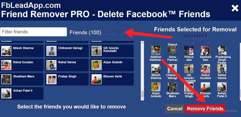 Facebook par all friends unfriend kaise kare