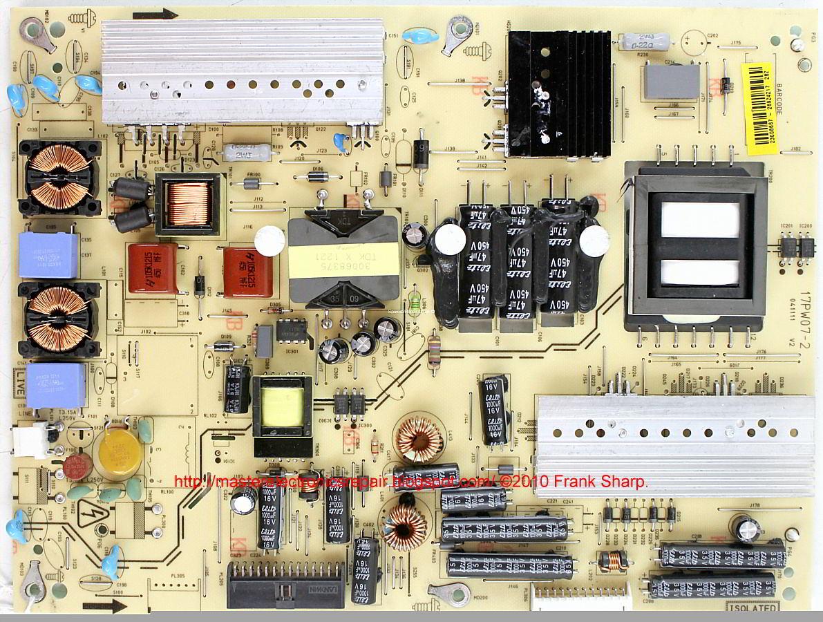 Master Electronics Repair    Vestel 17pw07  U2013 Power Supply