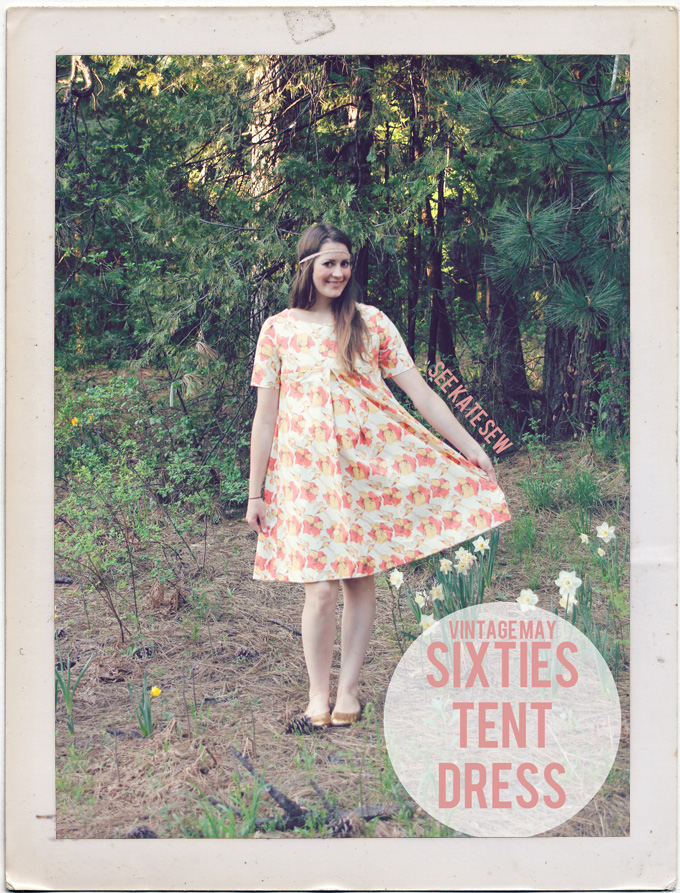 60s tent dress for Vintage May - see kate sew
