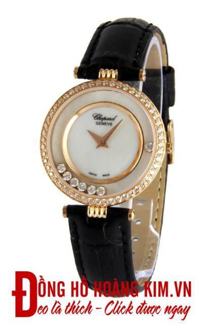 đồng hồ chopard nữ dây da đính đá