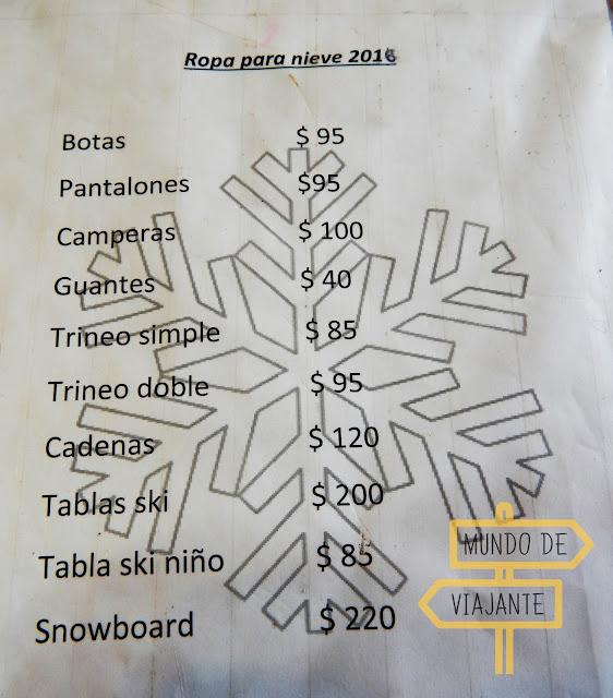 Preço aluguel de roupas para neve 2016