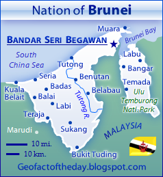 New map of Brunei