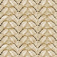 Eyelet Lace 42: Fir Tree   Knitting Stitch Patterns.
