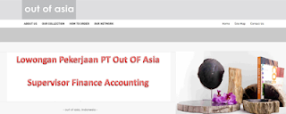 Lowongan Kerja Supervisor Finance Accounting Di PT Out Of Asia Yogyakarta