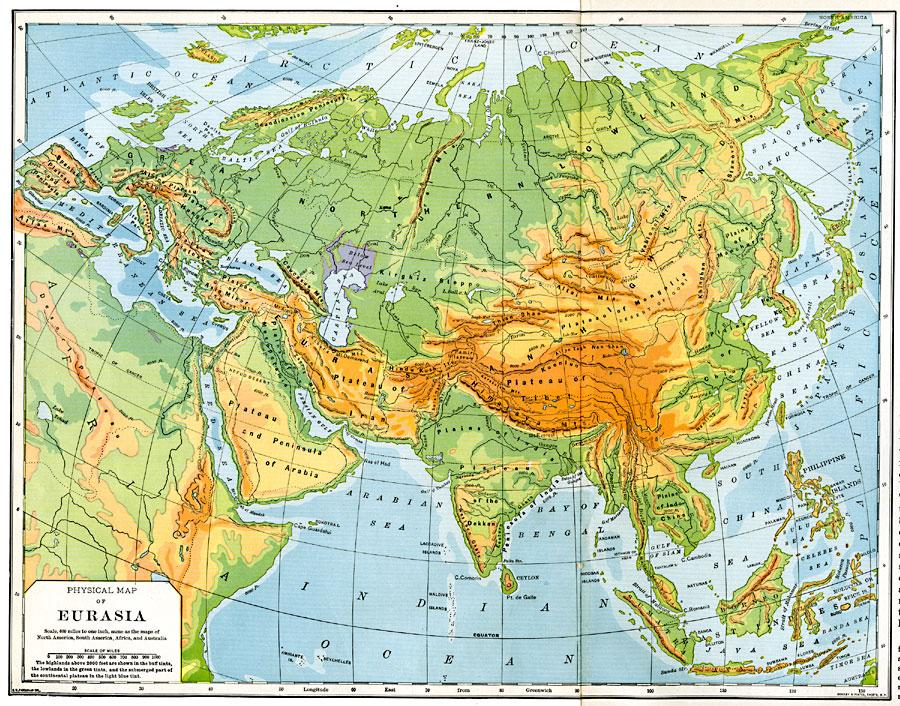 Online Maps: Asia and Europe Map