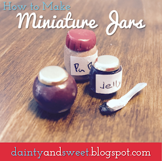 How to Make Miniature Jars From Polymer Clay | Dainty & Sweet