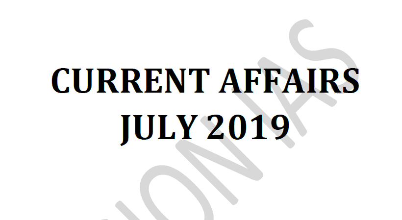 Vision IAS Current Affairs July 2019 pdf