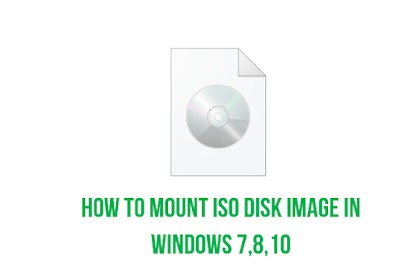 How to mount an ISO disk image in Windows 7, Windows 8 and Windows 10