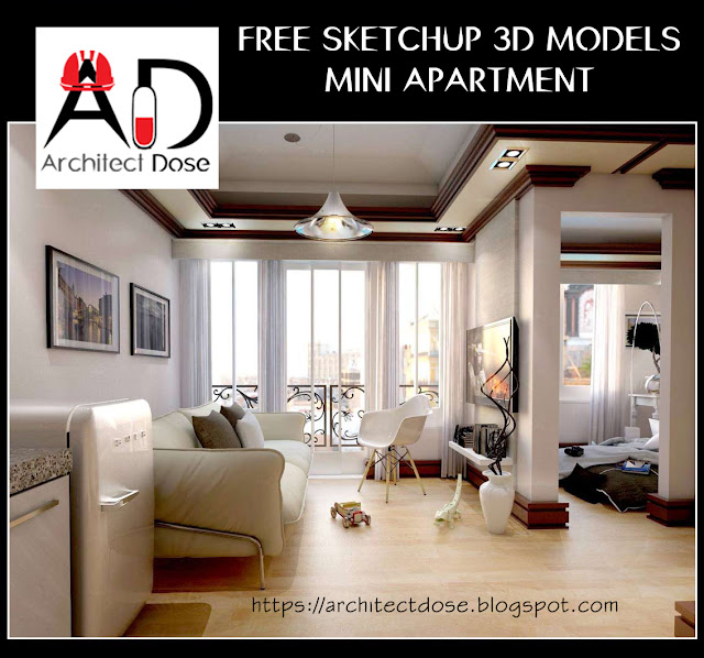 FREE SKETCHUP 3D MODELS - MINI APARTMENT
