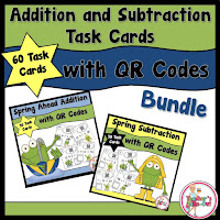 Spring Addition and Subtraction QR Code Bundle