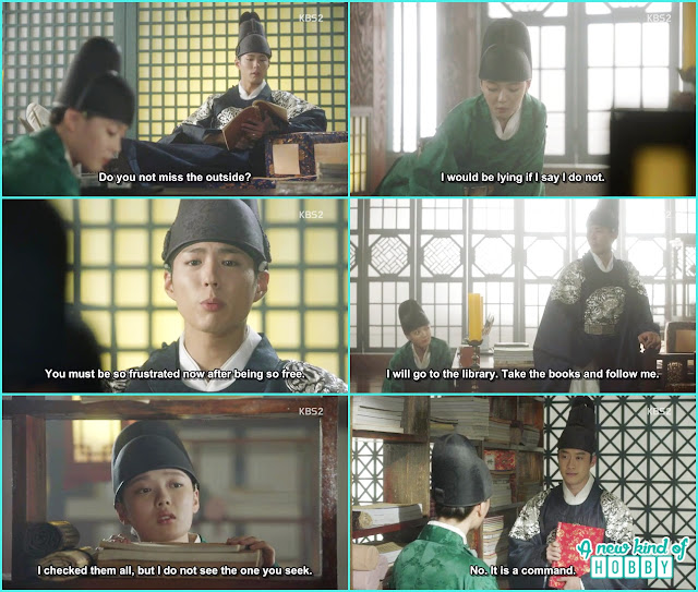 crown prince ask ra on in the library and left the palace in disguise - Love in The Moonlight - Episode 4 Review