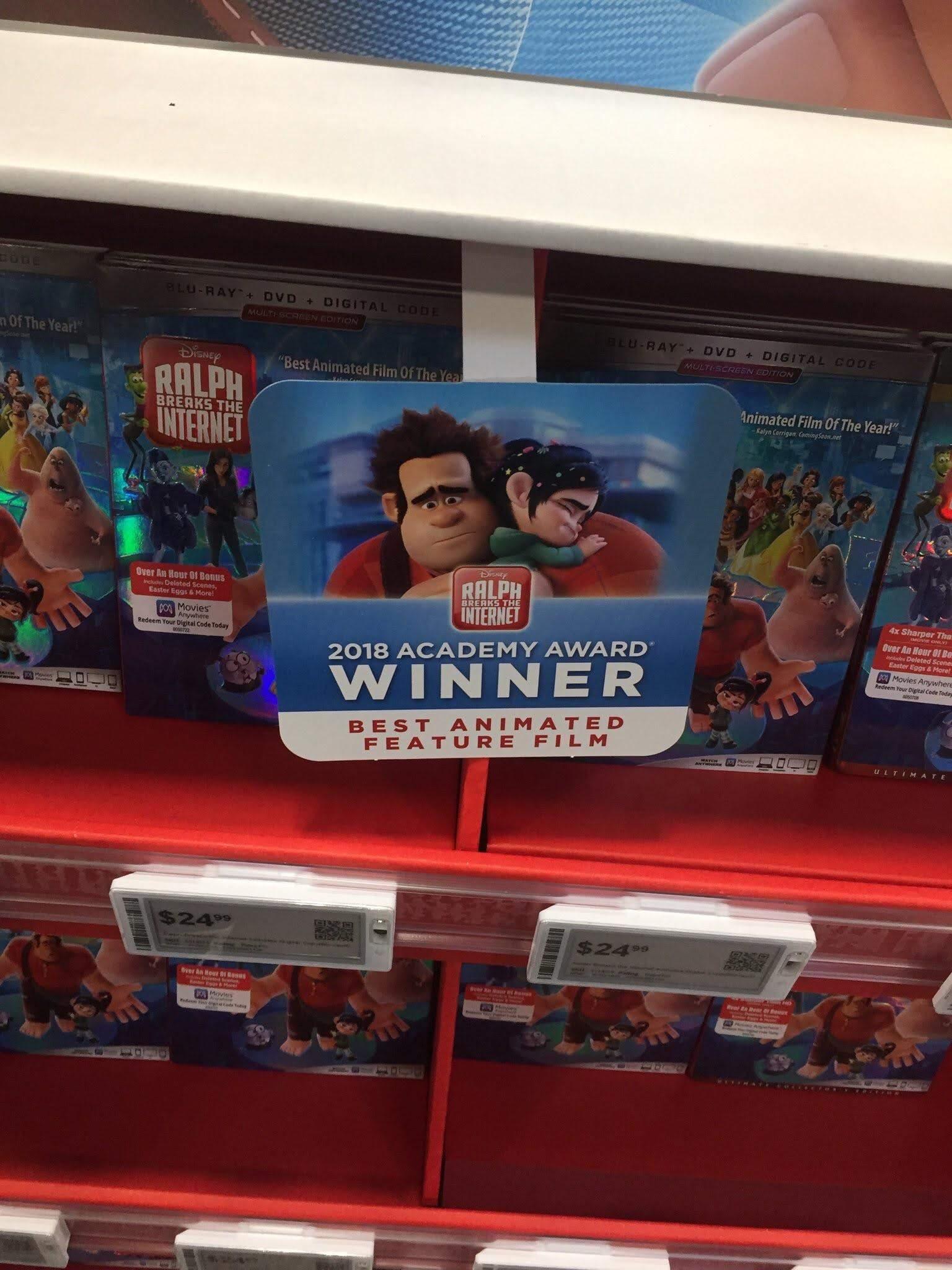 Let's Buy Winner of Academy Award Best Animated Feature Film Ralph Breaks The Internet : 第91回 アカデミー賞の最優秀長編アニメ映画賞に輝いたディズニーの傑作「ラルフ・ブレイクス・ジ・インターネット」をお買い求め下さい ! !