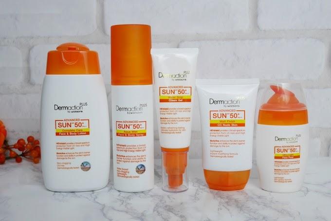 :: รีวิวกันแดด 5 ตัว จาก Dermaction Plus by Watsons Advance Sun ::